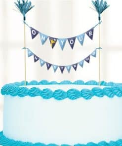 Christening Day Blue Cake Bunting