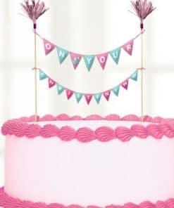 Christening Day Pink Cake Bunting
