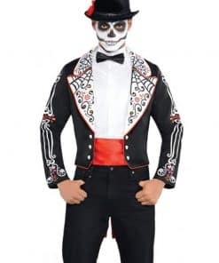 Halloween Day of the Dead Coat Set Costume
