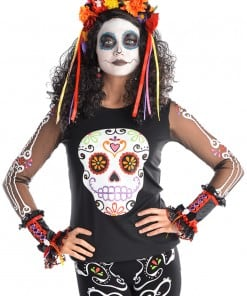 Halloween Day of the Dead Top