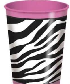 Zebra Passion Pink Party Favour Plastic Cup