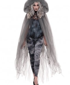 Halloween Grey Hooded Cape