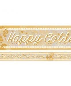 Holographic Golden Anniversary Foil Banner