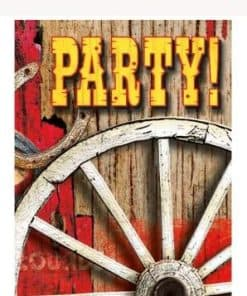 Rodeo Western Party Invitations