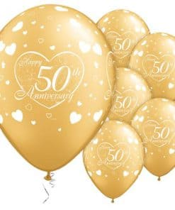 Little Hearts 50th Anniversary Balloons