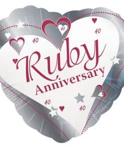 Loving Hearts Ruby Anniversary Balloon