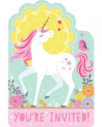 Magical Unicorn Party Invites