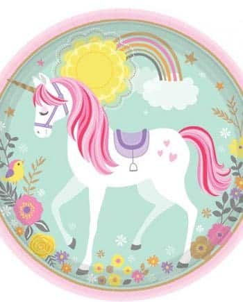 Magical Unicorn Party Paper Plates