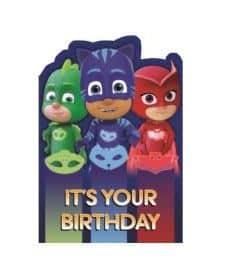 PJ Masks Party Birthday Card
