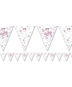 Ruby Anniversary Flag Bunting