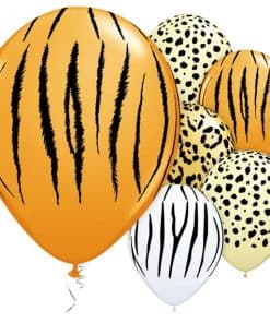 Safari Animal Print Assorted Latex Balloons