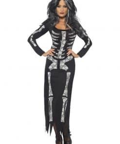 Halloween Skeleton Tube Dress Costume
