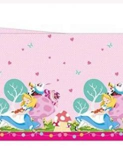 Alice in Wonderland Party Plastic Tablecover