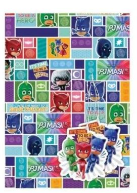 PJ Masks Party Gift Wrap & Tags