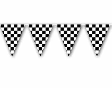 Black & White Bunting - Grand Prix or Formual 1 Party Decorations