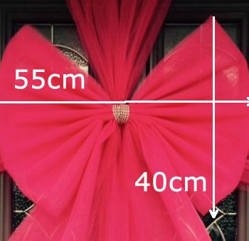 Bright Pink Bow With Dimensions