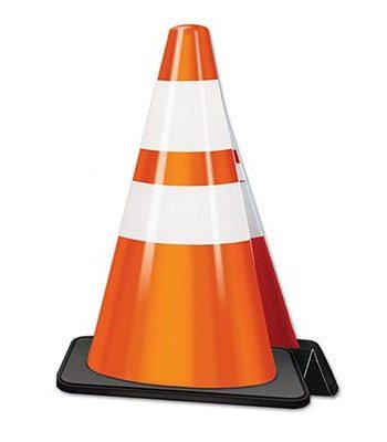 Construction Cone Centrepiece
