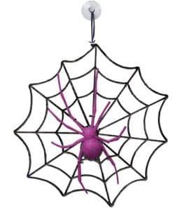 Halloween Glitter Spider and Web