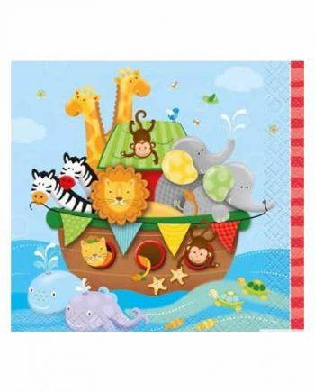 Noah's Ark Party Paper Beverage Napkins