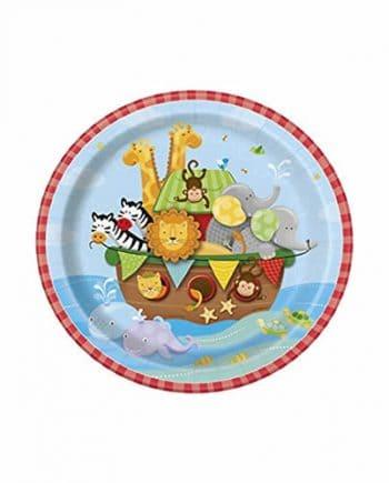 Noah's Ark Party Paper Dessert Plates
