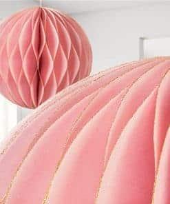 Pink Glitter Honeycomb