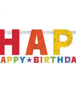 Primary Colour Prismatic Happy Birthday Banner