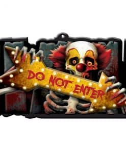 Halloween Scary Clown 'Do Not Enter' Plastic Sign