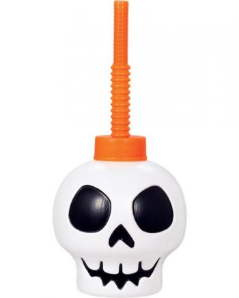 Halloween Party Skull Cup With Straw