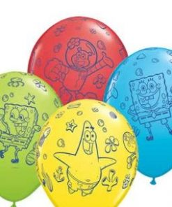 Spongebob Printed Latex Balloons asstd