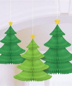 Tree Honeycomb Hanging Decoration