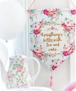 Truly Scrumptious Vintage Fabric Hanging Banner Sign