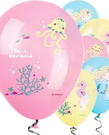 Be A Mermaid Party Printed Latex Balloons
