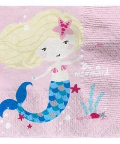 Be A Mermaid Party Paper Beverage Napkins