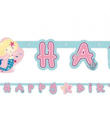 Be A Mermaid Party Happy Birthday Letter Banner
