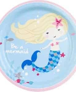Be A Mermaid Party Paper Dessert Plates