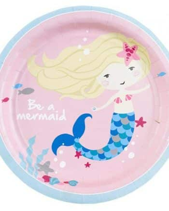 Be A Mermaid Party Paper Lunch Plates