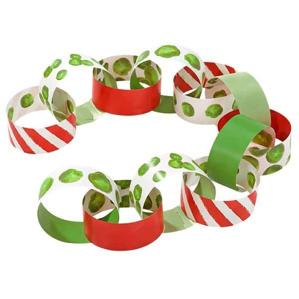 Christmas Paper Chains Uk.Botanical Sprout Party Christmas Sprout Paper Chains Pk 100