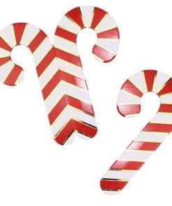 Merry & Bright Christmas Party Candy Cane Glass Decoration