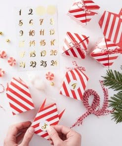 Merry & Bright Christmas Party Foiled Stripe Advent Box Kit