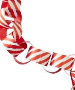 Merry & Bright Christmas Party Foiled Stripe Paper Chains