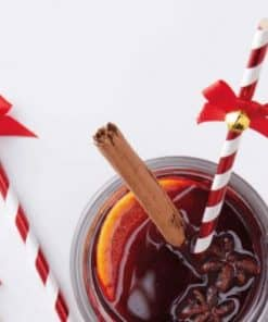 Merry & Bright Striped Straws with Twinkling Bells