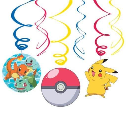 Pokémon Hanging Swirl Decorations