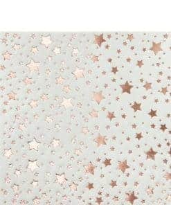 Rose Gold Metallic Star Cocktail Napkins