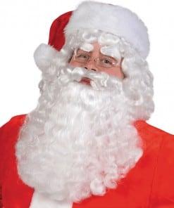 Santa Claus White Wig & Beard Set