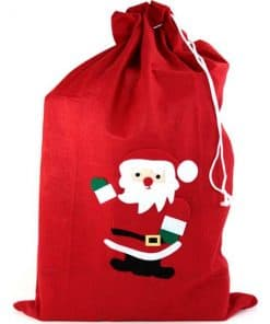 Christmas Santa Sack Red Fleece