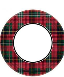 Tartan Party Paper Plates