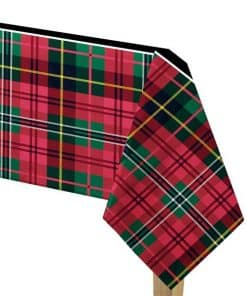 Tartan Party Paper Tablecover