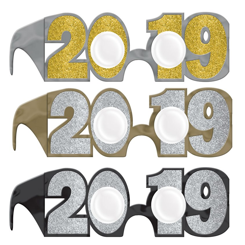 Buy New Years Eve 2019 Glitter Glasses - Fun Party Supplies