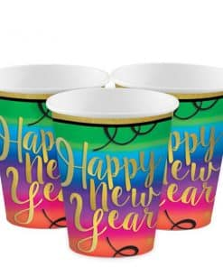 Colourful New Year Paper Cups