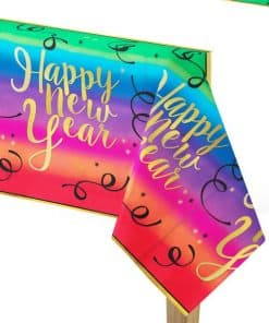 Colourful New Year Paper Tablecover